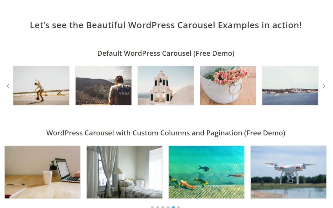 How to create beautiful Carousel in wordpress