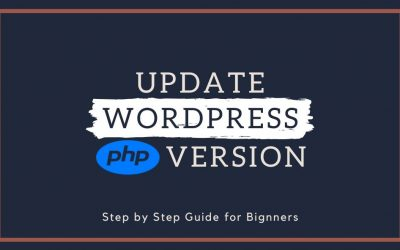 How to Update wordpress php  version
